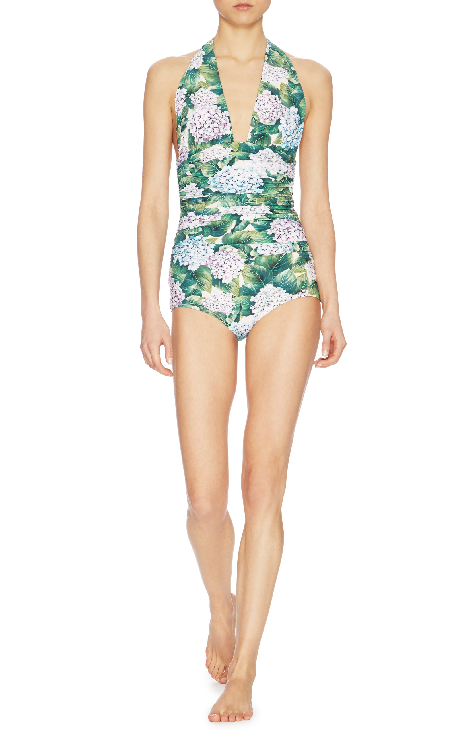 1b8bafff88b Floral-Print One-Piece Swimsuit by Dolce & Gabbana | Moda Operandi