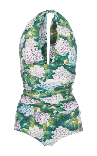 Medium dolce gabbana print floral print one piece swimsuit