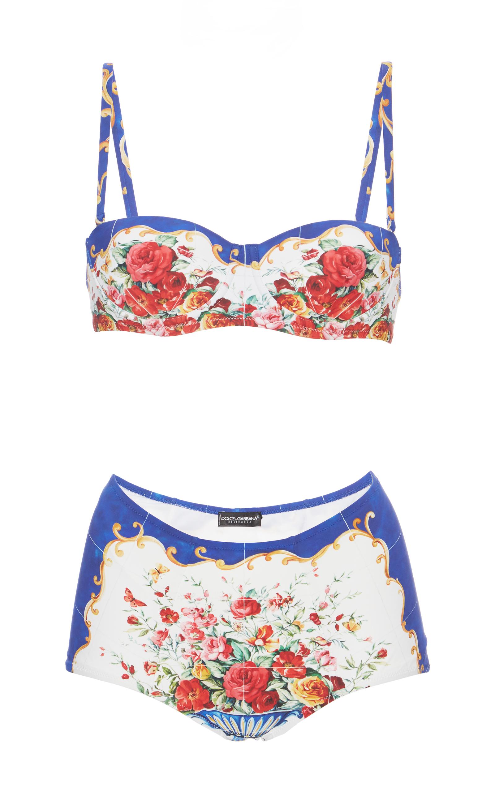 7730e48e19bdc Printed Bikini Set by Dolce & Gabbana   Moda Operandi