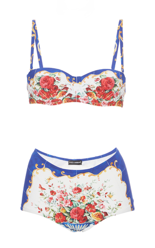 Medium dolce gabbana print printed bikini set