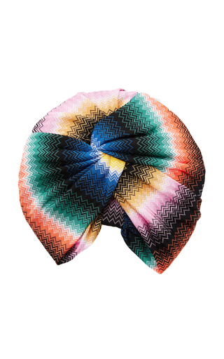Medium missoni mare multi crochet knit multicolored turban