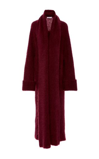 Medium tuinch red long cashmere cardigan