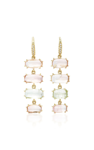 Medium lauren k pink 4 stone joyce earrings