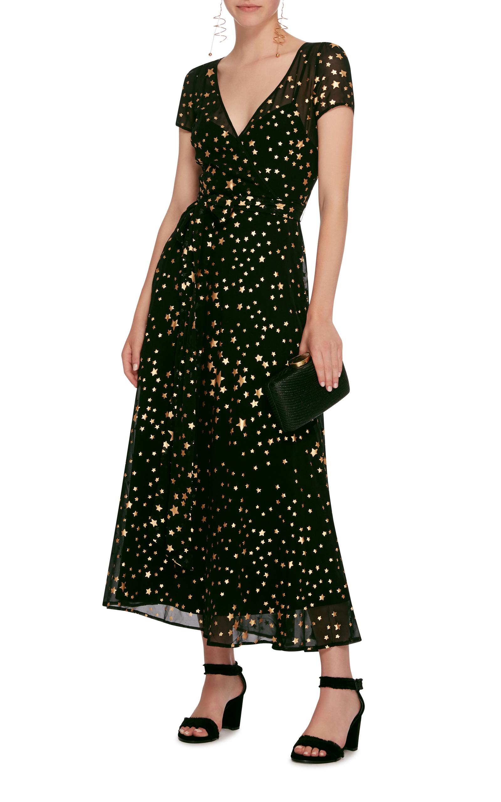 c03e32eb3d3 Red ValentinoStar Print Silk Georgette Maxi Dress. CLOSE. Loading