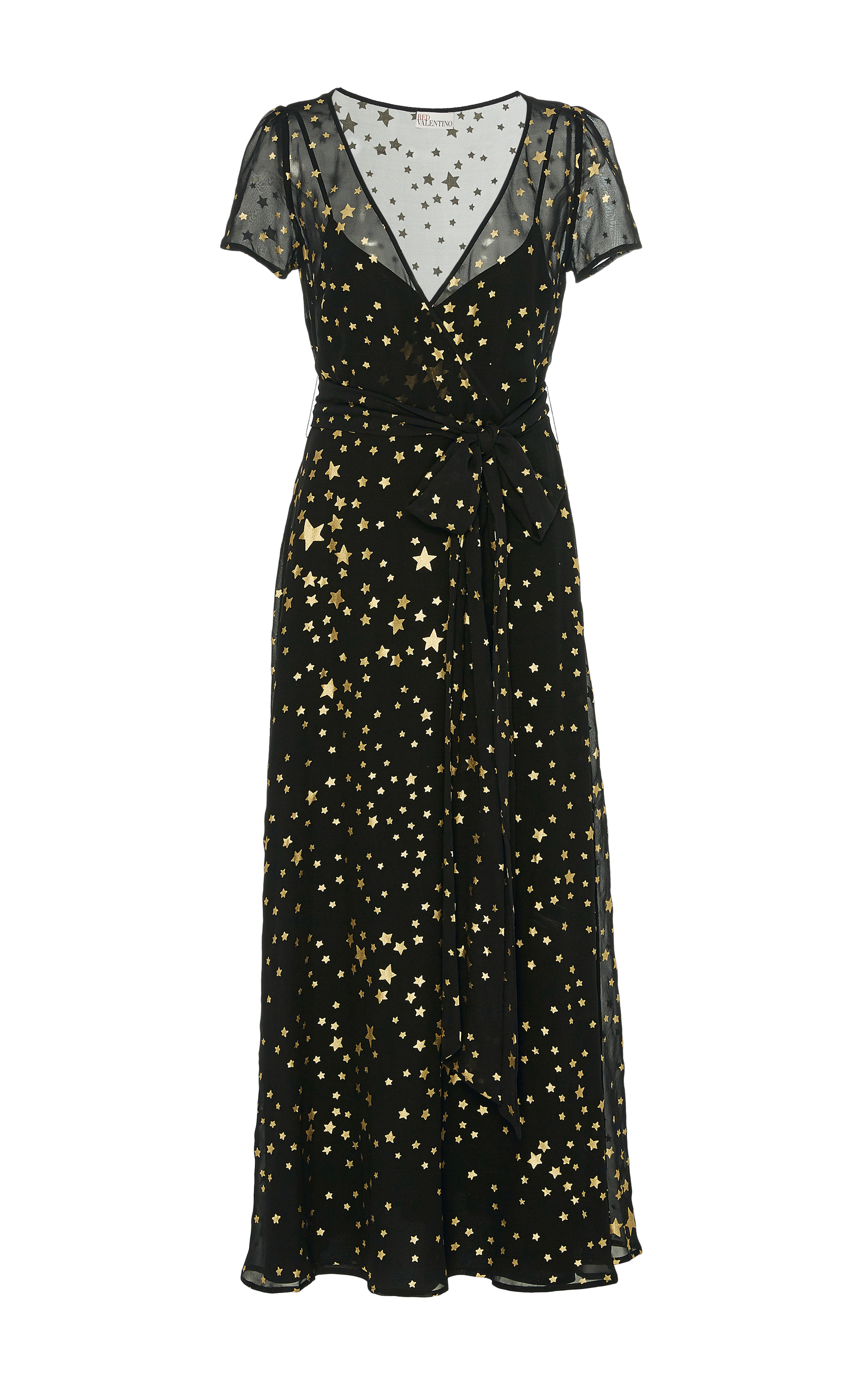 b0cb1e596ecc Star Print Silk Georgette Maxi Dress by Red Valentino | Moda Operandi