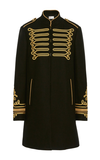 Medium red valentino black tailcoat embroidered jacket