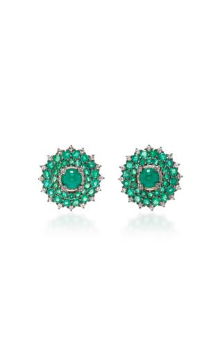 Medium nam cho green emerald studs