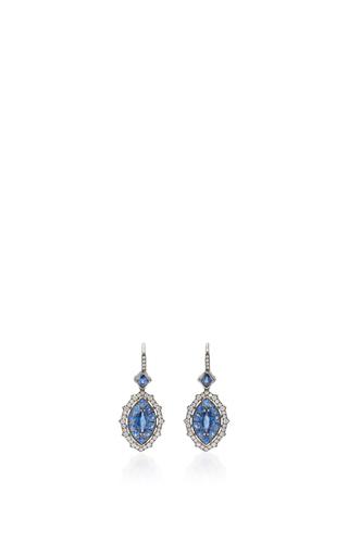 Medium nam cho blue blue sapphire earrings