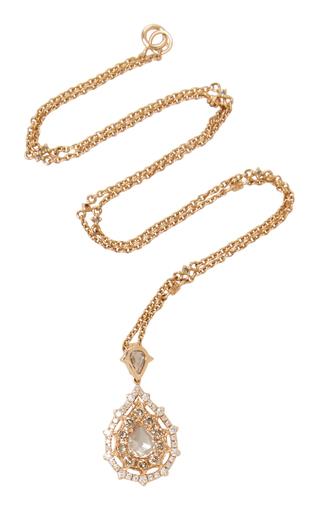 Medium nam cho gold champagne diamond necklace