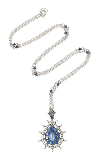 Medium nam cho blue blue sapphire necklace