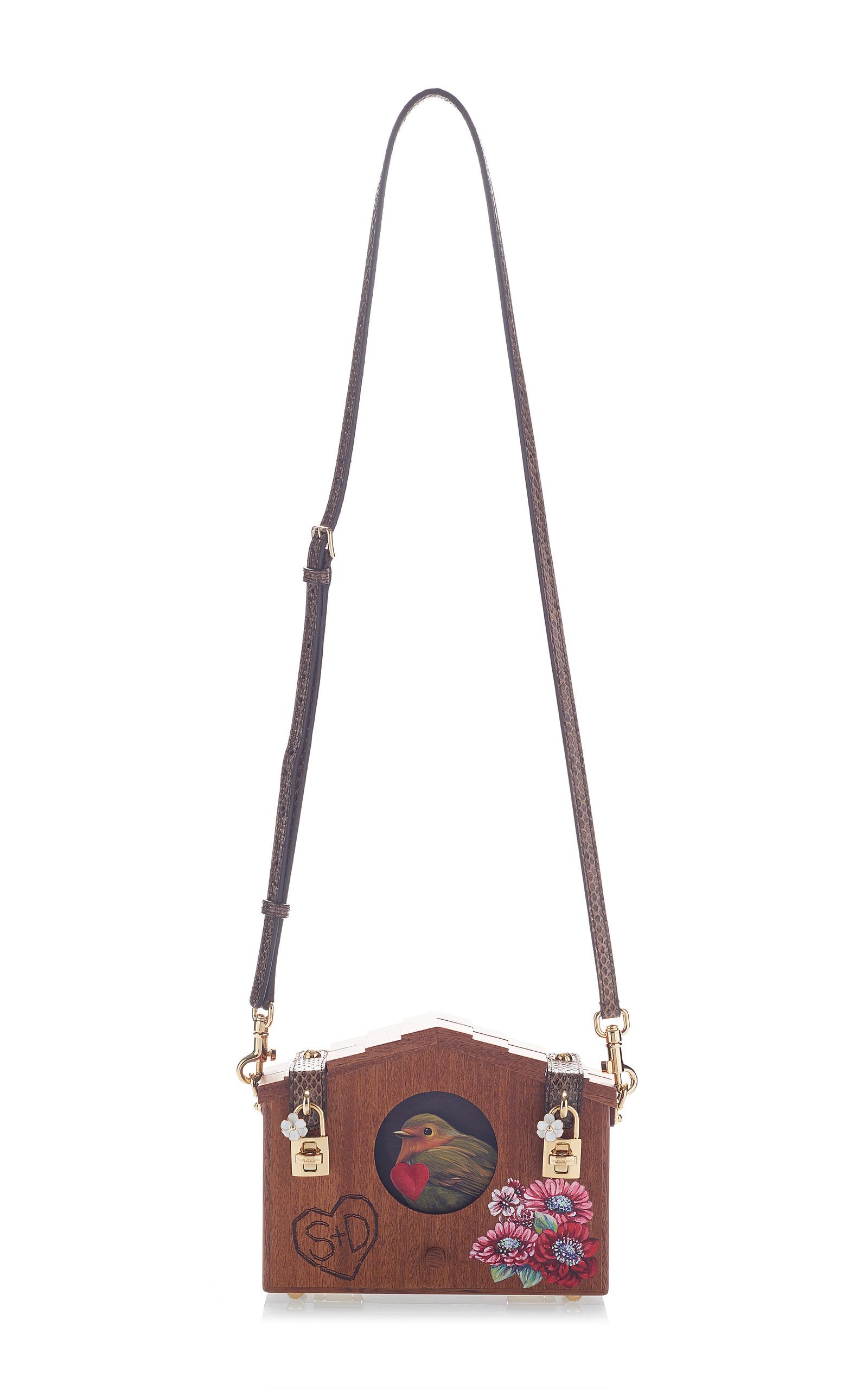 9c4eb630a8dd Embellished Wood Shoulder Bag by Dolce   Gabbana