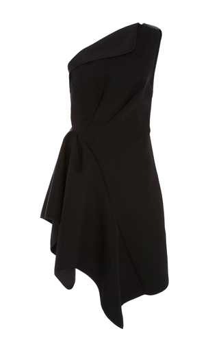 Medium acler black jackson asymmetric dress