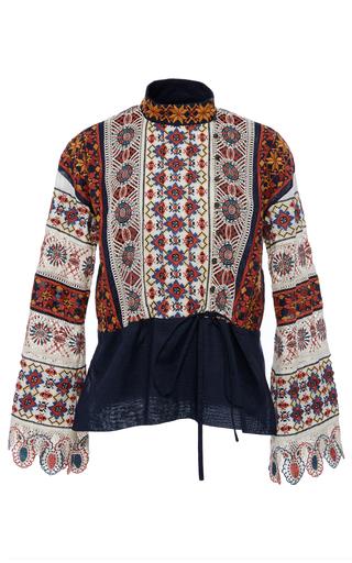 Medium tory burch multi carina embroidered top