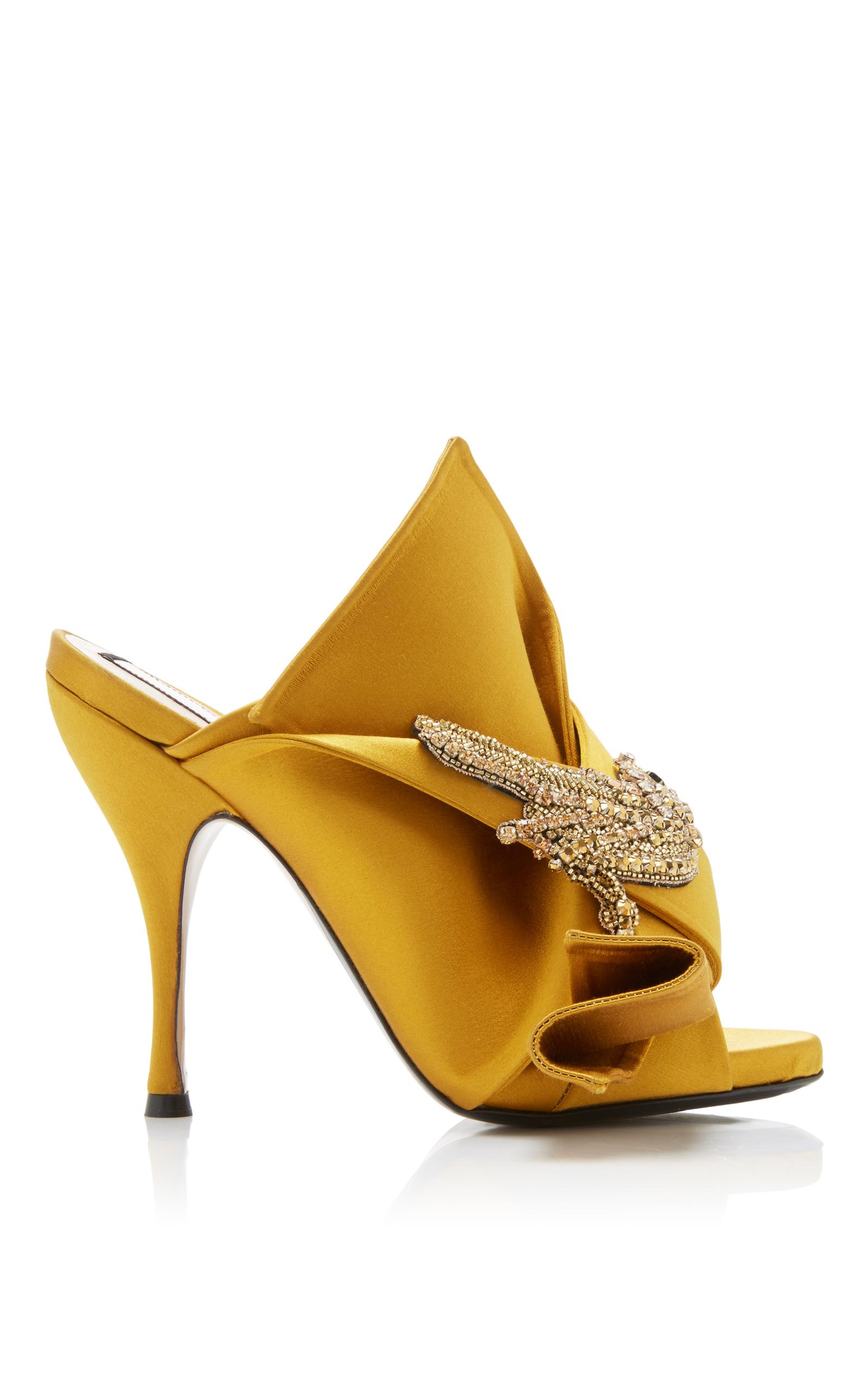 knot detail mules - Yellow & Orange N cNTyaQ