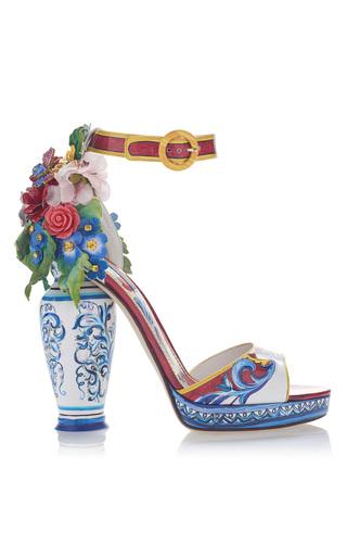 Medium dolce gabbana multi embellished patent leather sandals