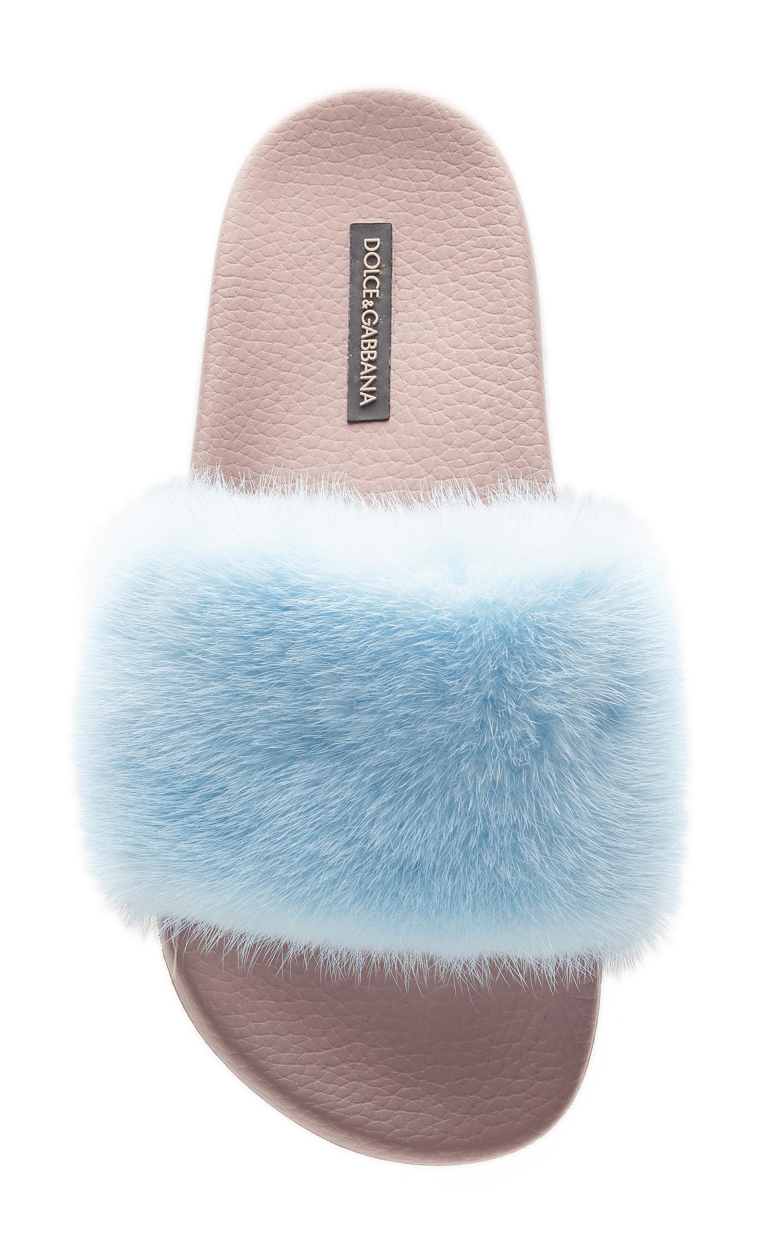 Dolce & Gabbana Dolce & Gabbana Fur Slides
