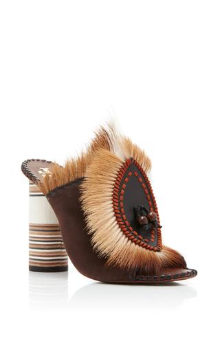 Medium tory burch brown phoenix fur mule