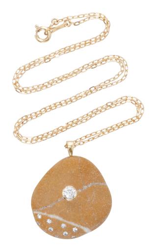 Medium cvc stones brown punta del este necklace