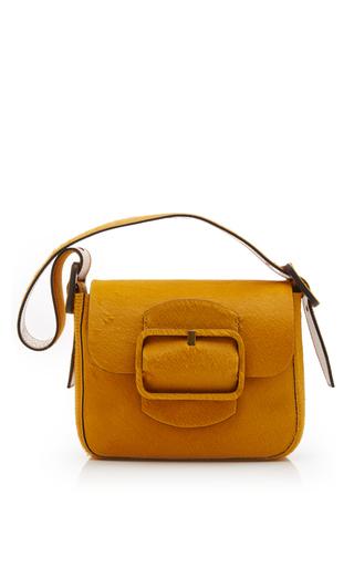 Medium tory burch yellow sawyer calf hair small shoulder bag