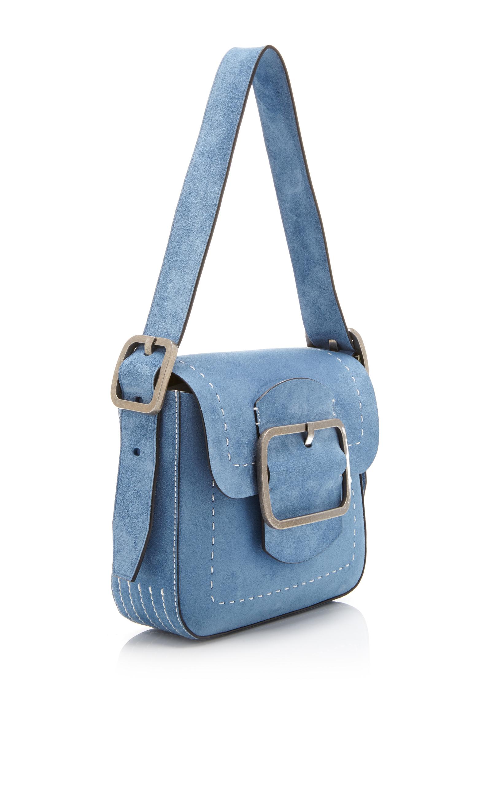 17e7cbd3ce2e uk tory burch blue suede handbag 4368d 437a6