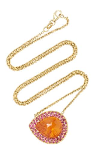 Medium lauren k orange mandarin garnet pink sapphire emily necklace