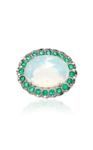 Medium lauren k blue opal and emerald harper ring
