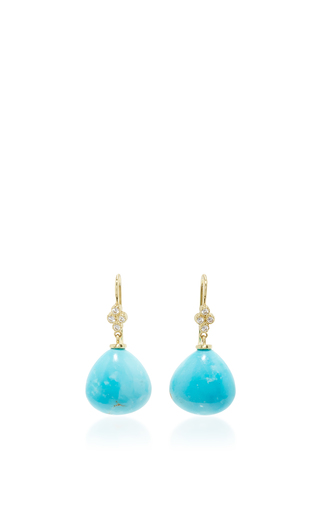 Medium lauren k blue turquoise shanti briolette earrings