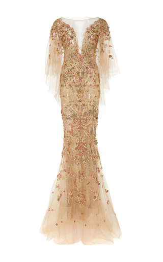 Medium marchesa gold beaded mermaid gown