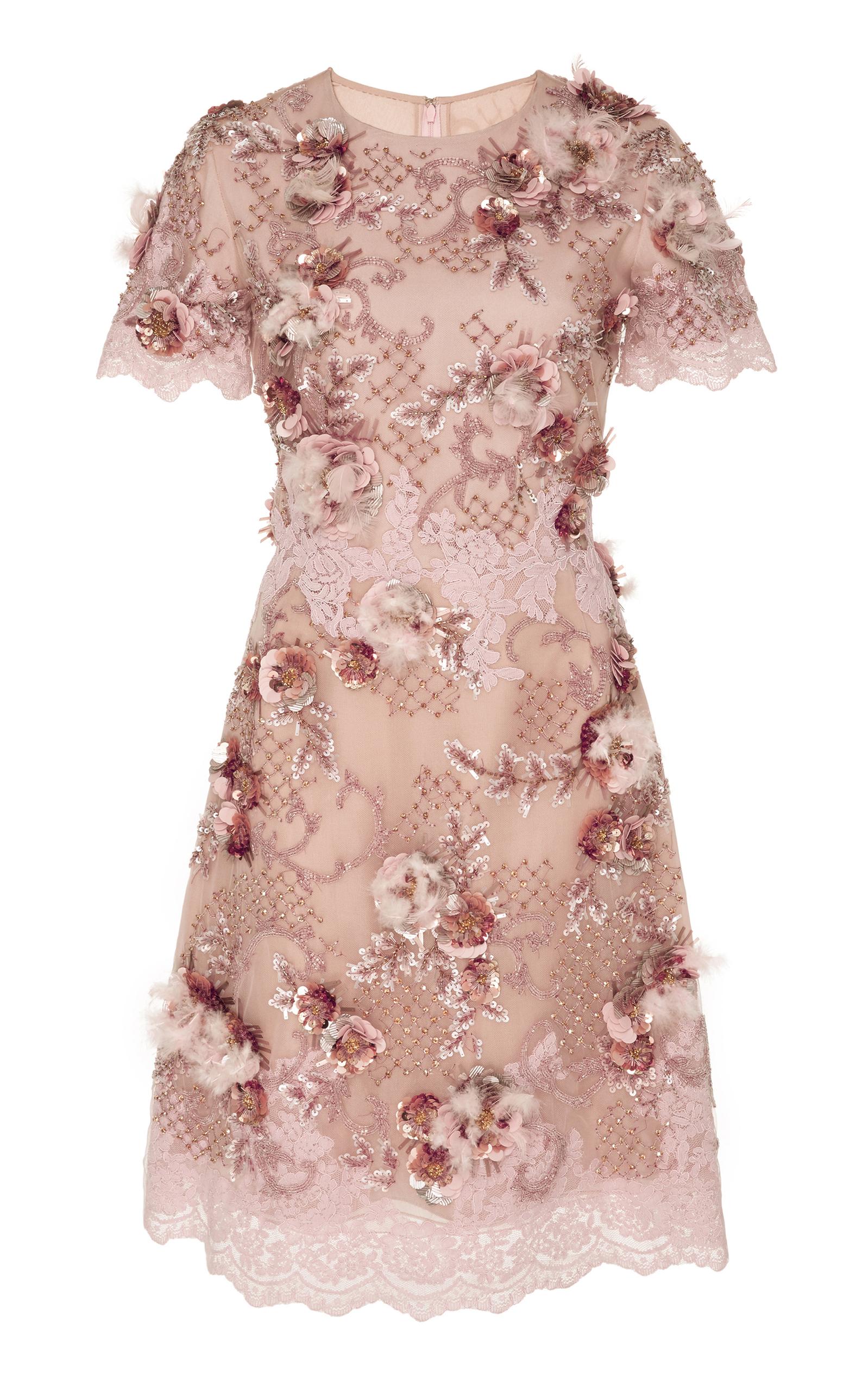 pink floral cocktail dress
