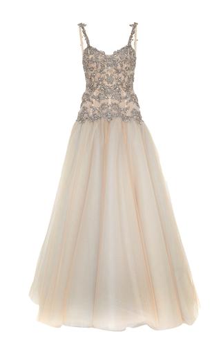 Medium marchesa grey tulle ball gown