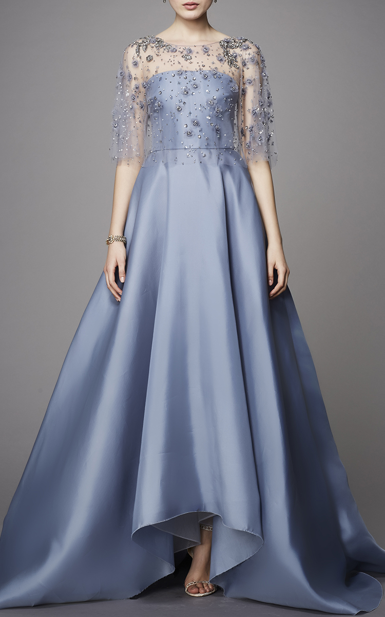 Embroidered Capelet Gown By Marchesa Moda Operandi