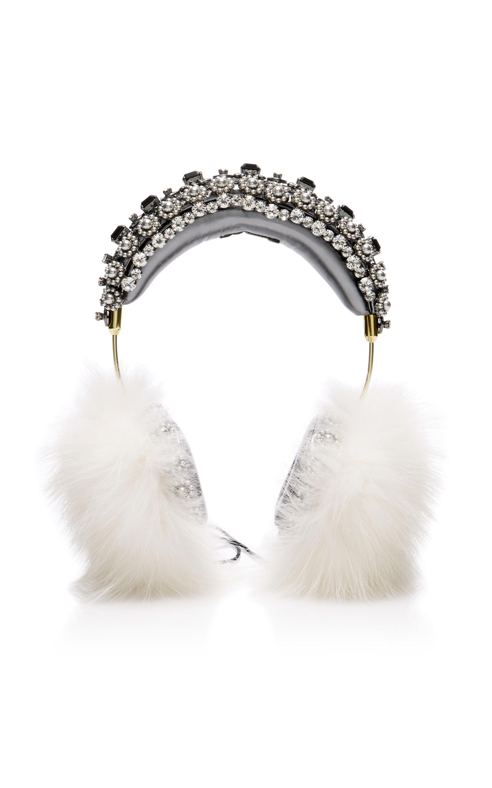 f5a660ec104e Dolce   Gabbana Embellished Headphones In Multi