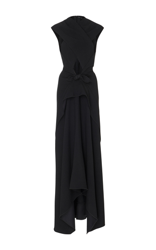 Medium proenza schouler black crossover crepe gown