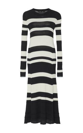 Medium proenza schouler stripe striped wool blend dress