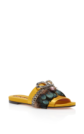 Medium rochas yellow bonita embellished sandal