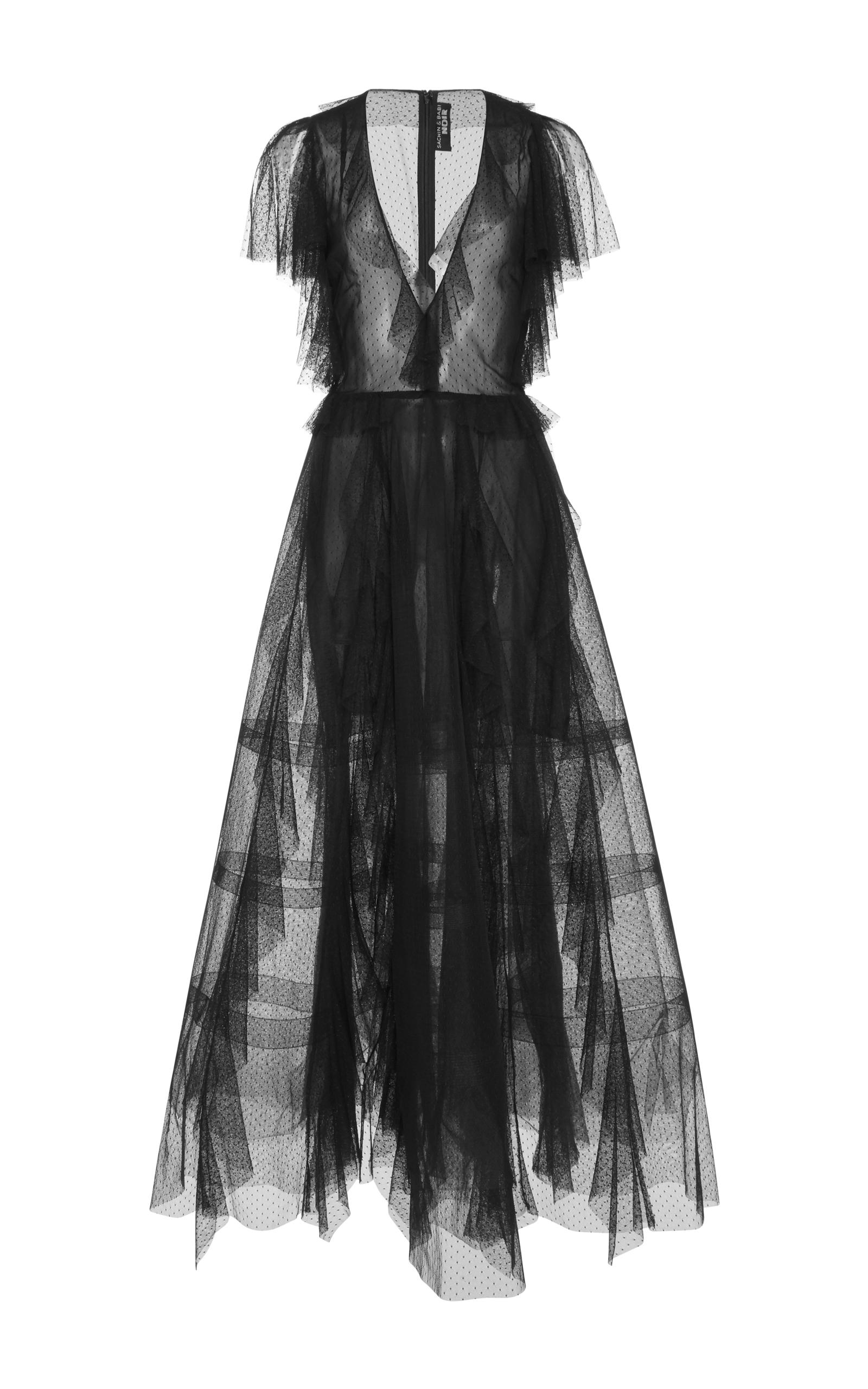 Nina Dotted Tulle Gown By Sachin Babi Moda Operandi
