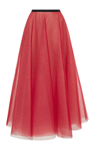 Medium sachin babi red clara dotted tulle skirt