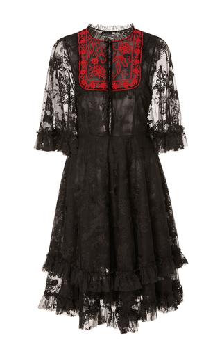 Medium sachin babi black nelle beaded bodice dress