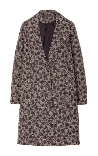 Medium co multi floral jacquard coat