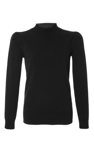 Medium co black turtleneck knit sweater