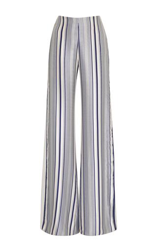 Medium jonathan simkhai black white multimedia linear print side slit pants