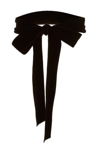 Medium monique lhuillier black velvet ribbon belt
