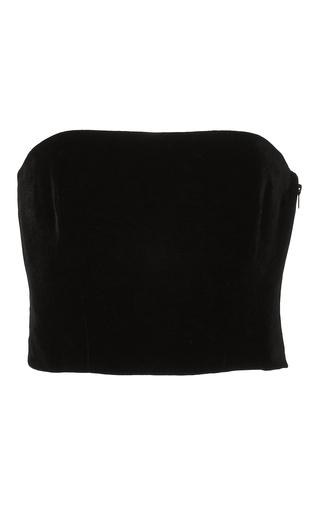 Medium monique lhuillier black strapless velvet top