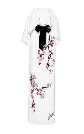 Medium monique lhuillier white off the shoulder floral embellished gown