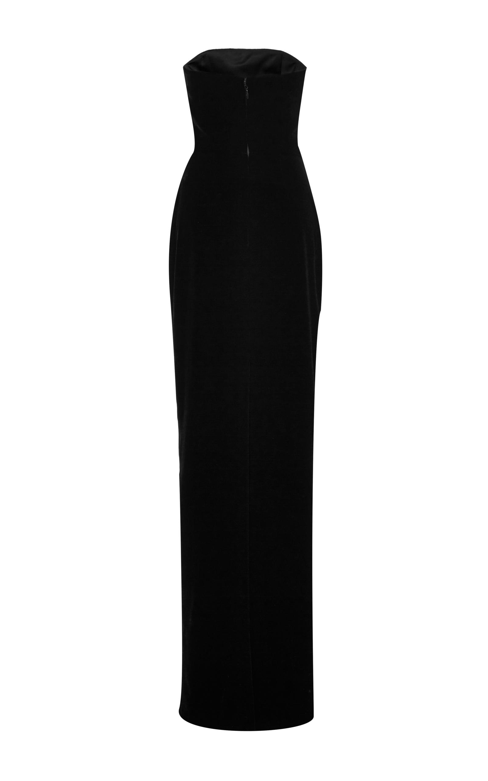 8321be3fefe4 Monique LhuillierStrapless Velvet Column Gown. CLOSE. Loading. Loading