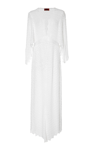 Medium missoni mare white maxi lace v neck coverup