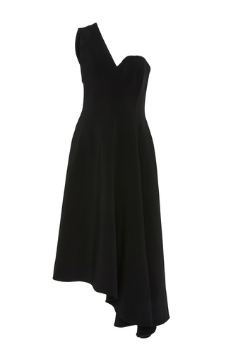 Medium rosetta getty black half strapless dress