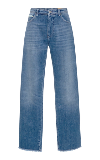 Medium alexachung blue mid rise frayed jeans