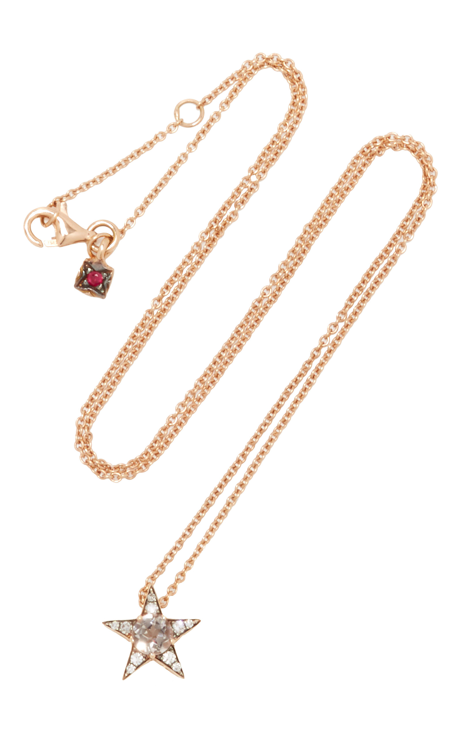 heart rose accent gold morganite pendant diamond pendants and pin stella grace