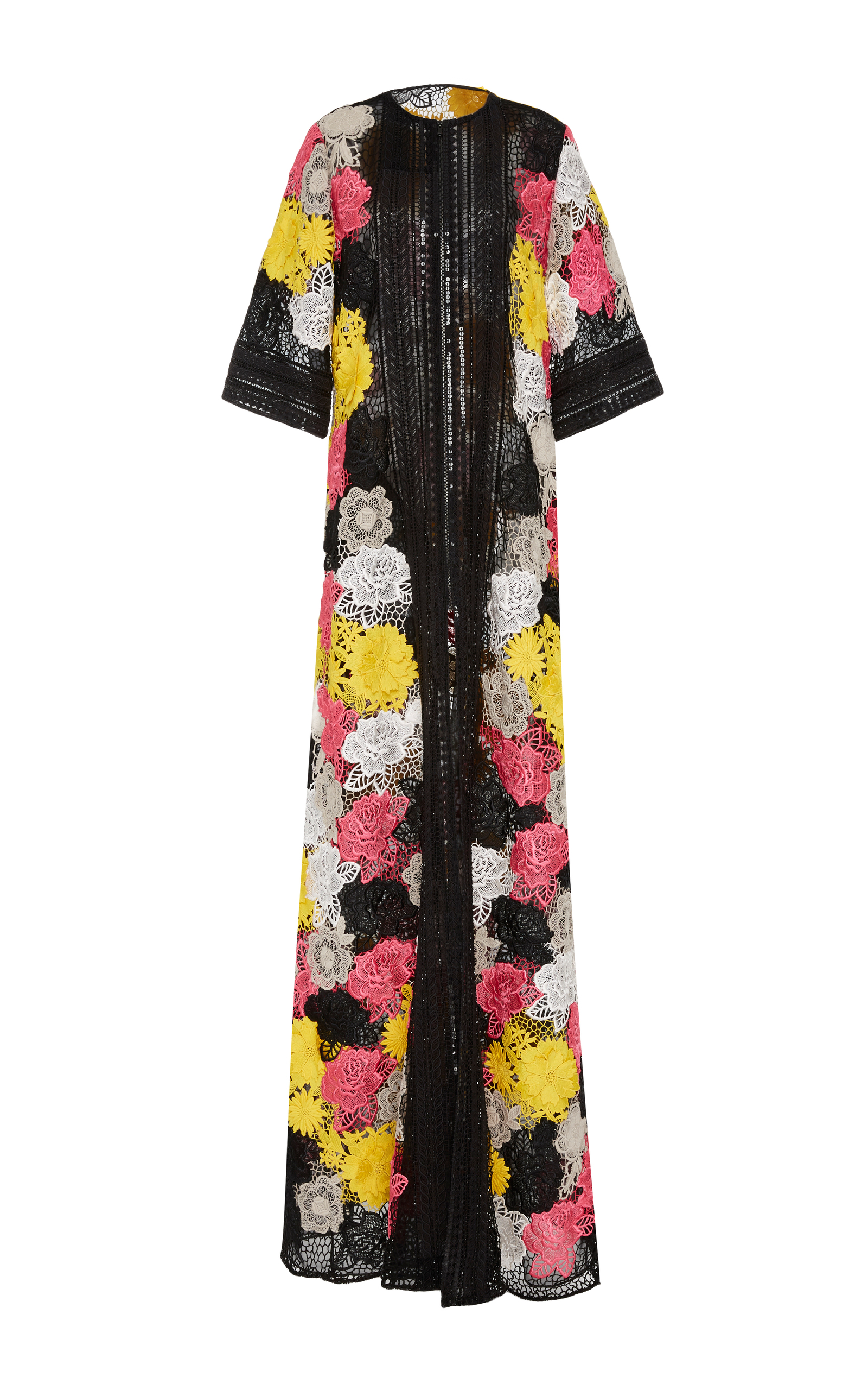 Floral embroidered coat by naeem khan moda operandi
